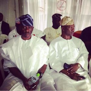 Obanikoro (L) and the ventral winner of the Lagos PDP primary, Jimi Agbaje