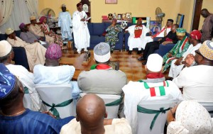 President Goodluck Jonathan Addresses A Meeting With Leaders Of Afenifere In Akure On Tuesday (27/1/15)