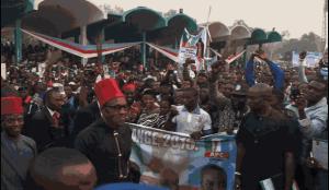 Buhari's campaign storm Enugu, South-East, Nigeria