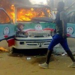 Jonathan's Campaign Buses Set Ablaze In Jos