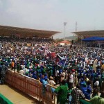 Opeyemi Bamidele, Ex-Speaker, Others Declare For APC As Huge Crowd Storm Buhari's Rally In Ekiti