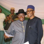 Photo News: In Abuja, Jonathan, Buhari Sign Renewal of Pledges To Peaceful Election