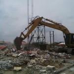 "Ambode's Bulldozer Demolishes ""Notorious"" SURE-P Taskforce Headquarters"