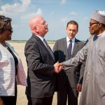 Photo News: Nigeria's President Buhari arrives Washington, DC on Sunday, July 19, 2015 to meet with President Barack Obama