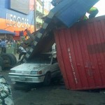 Many Trapped As truck Fell Down From Ojuelegba Flyover