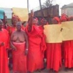 Half Nude Women Protest Against Oshiomhole's Outburst On Igbinedion