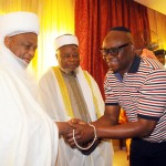 Photo News: Ekiti state Governor Ayodele Fayose Welcomes Sultan of Sokoto to Ado-Ekiti