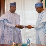 Photo: Saraki Officially Presents List of Confirmed Ministerial nominees to Buhari