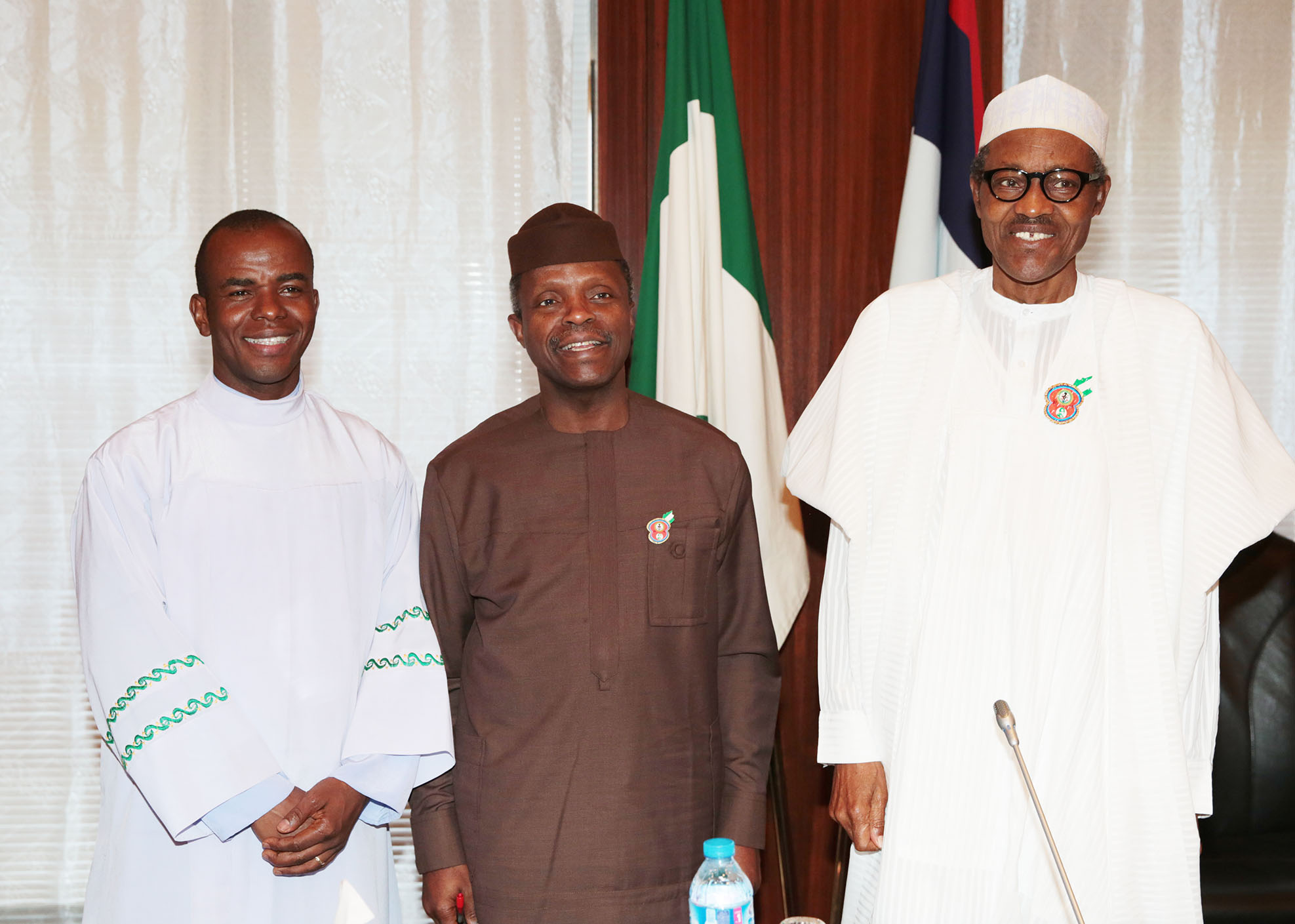 Image result for rev father mbaka and buhari