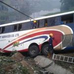 3 Died As Passenger Bus Plunges Into Lagoon In Lagos
