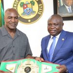 Evander Holyfield in Lagos, Donates $3m for Health Equipment