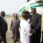 PHOTO NEWS: Buhari Arrives Nigeria after Long Medical Treatment in London