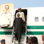 Buhari Finally Arrives Nigeria after over 100 days of Medical Treatment in London