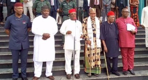 Image result for nnamdi kanu and south east governors