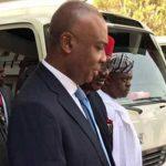 Saraki, Other Senators Visit Dino Melaye at National Hospital