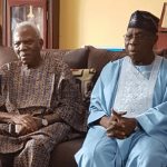 2019: Obasanjo Visits Afenifere Leader, Fasoranti in Akure