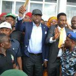 Huge Supporters Welcome Senator Ayogu Eze Back to Enugu