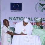 Buhari, Other Presidential Candidates Sign Peace Accord Ahead of 2019 Election