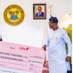 UBA Presents N1 Billion Cheque to Lagos to Combat COVID-19