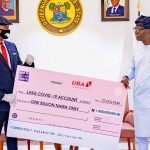 PHOTO NEWS: UBA Presents N1 Billion Cheque to Lagos to Combat COVID-19