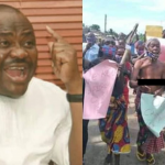 Wike Trends On Twitter As Ogoni Women Protest Half Naked Over Detention Of Prodest Hotel Manager