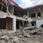 [UPDATED] Gunmen Demolish Nigerian High Commission Building in Ghana