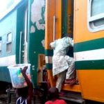 Driver, Passengers Escape Death As Bus Collides With Moving Train In Lagos