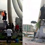 Protesters Set Zik's Statue Ablaze; Act Sacrilegious Says Family