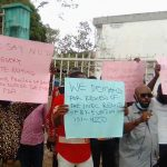 APC Rejects Enugu By-Election Results, Protests at INEC Office