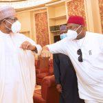 Governor Uzodinma Explains Why He Met President Buhari Behind Closed Doors