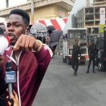 June 12: Comedian Mr Macaroni Joins Protesters In Lagos