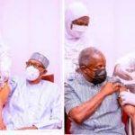 Buhari, Osinbajo Receive Covid-19 Vaccines In Aso Villa
