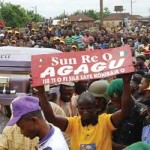Late Former Gov of Ondo State Olusegun Agagu finally buried in his home town, Iju-Odo amidst tears