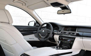 Interiors of a 2014 750LI BMW