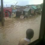 Floods at Egbeda, Lagos Nigeria on Tuesday 06/11/13