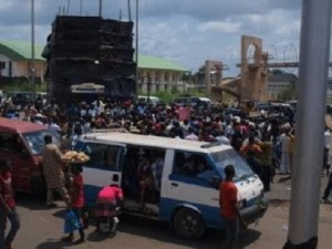 Protesting Disabled Persons in Imo, South-East Nigeria