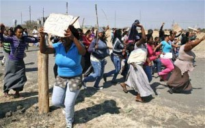 Some South African women married to Nigerians staged a peaceful protest in Johannesburg